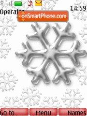 Silver Snow Flakes theme screenshot