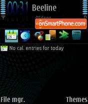 Black Shape 3rd theme screenshot