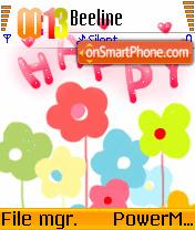Happy 01 es el tema de pantalla