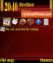 Redgold theme screenshot