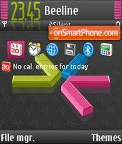 S60 Black tema screenshot