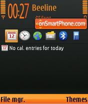 Black and Orange 01 theme screenshot