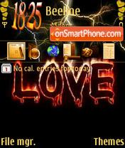 Lightning Love theme screenshot