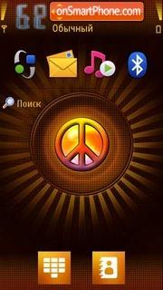 5800 Peace Emblem tema screenshot