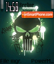 Skull Punisher theme screenshot