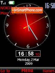 SWF analog red clock theme screenshot