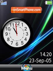 Vista Clock es el tema de pantalla