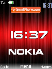 Red Nokia flash 1.1 theme screenshot