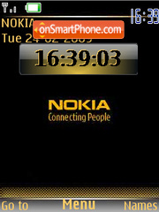 Gold Nokia clock Screenshot