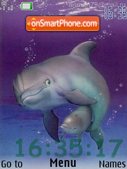 Dolphins flash 1.1 theme screenshot