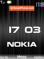 Black Nokia flash 1.1 theme screenshot