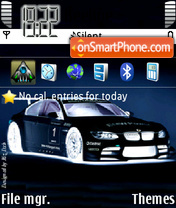 BMW 3 Negative theme screenshot