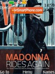 Madonna and Horses theme screenshot