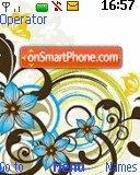 Blue Flower theme screenshot
