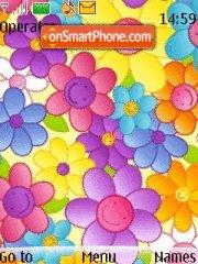 Colorful Flowers theme screenshot