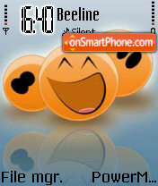 Orange Smiley theme screenshot