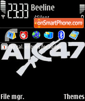 AK-47 theme screenshot
