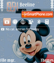 Mikey Mouse 01 theme screenshot