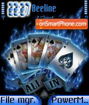 Cards 01 es el tema de pantalla