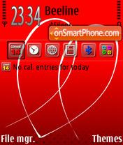 Скриншот темы Valentine 04