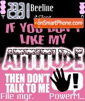Attitude theme screenshot