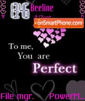 You'r Perfect es el tema de pantalla