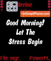 Stress es el tema de pantalla