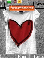 Love T-shirt es el tema de pantalla
