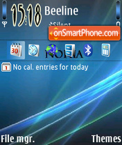 Vista Nokia theme screenshot