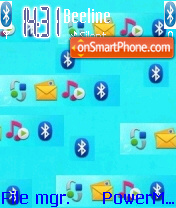 Bluetooth Virus Crazy theme screenshot