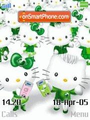 Hello Kitty Green theme screenshot