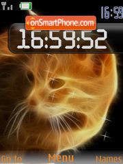 Cat-fire flash 2.0 es el tema de pantalla