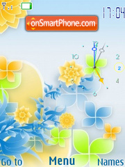 Flower abstract flash 2.0 theme screenshot