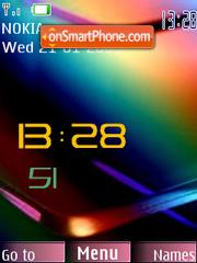 Digital Colour Clock SWF theme screenshot
