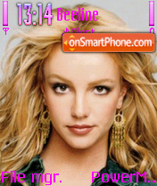 Britney Spears 13 theme screenshot