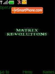 Matrix Revolutions theme screenshot