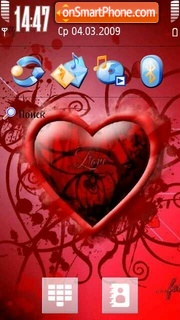 Heart Love theme screenshot
