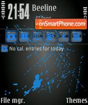 Blue Paint tema screenshot