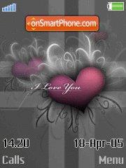 Grey hearts2 theme screenshot