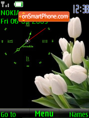 SWF clock2 tulips theme screenshot