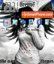 Скриншот темы Black Angel 01