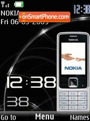 SWF Nokia 6300 clock theme screenshot