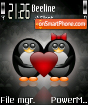 Cutepenguins tema screenshot