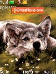 Cute Wolf theme screenshot