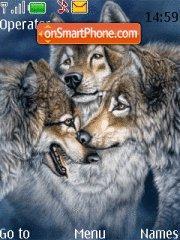 Скриншот темы Wild Wolfs