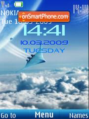 SWF clock aviation es el tema de pantalla