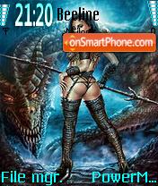 Girl and Dragon Theme-Screenshot
