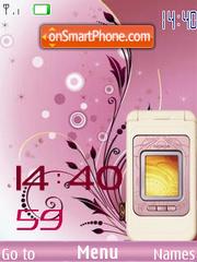 SWF clock Nokia 7390 theme screenshot