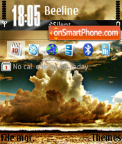 Clouds tema screenshot