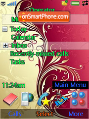 Red Abstract Flowers theme screenshot